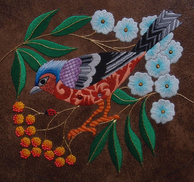 Nicola Jarvis Chaffinch and Rowan Berries