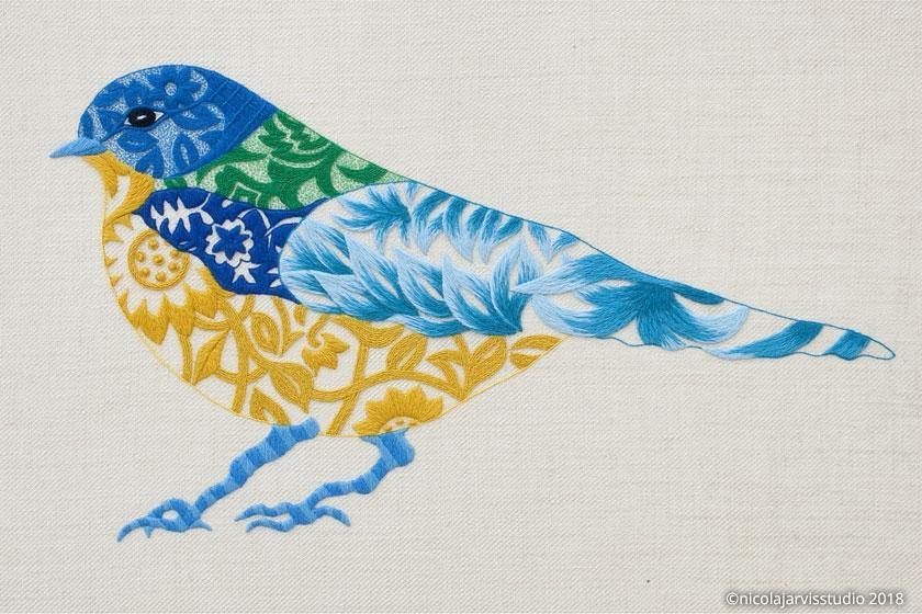 Nicola Jarvis Crewel Bluebird