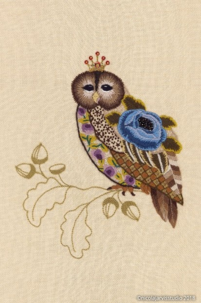Nicola Jarvis Crewel Owl