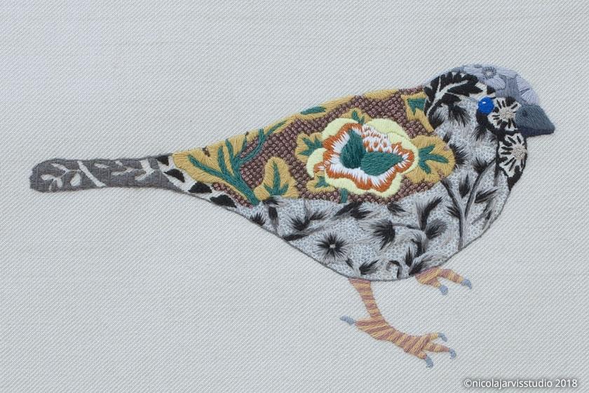 Nicola Jarvis Crewel Sparrow