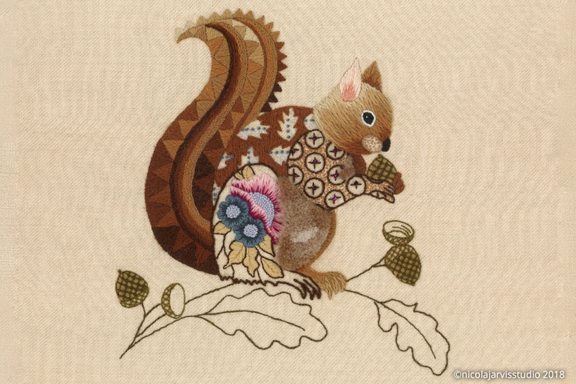 Nicola Jarvis Crewel Squirrel