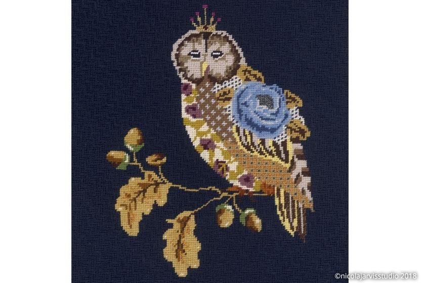 Nicola Jarvis Hillwood Canvas Owl