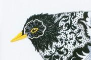 Nicola Jarvis silk blackbird