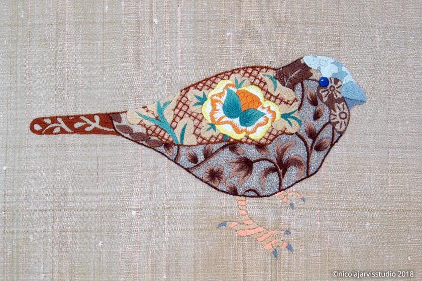 Nicola Jarvis Silk Sparrow