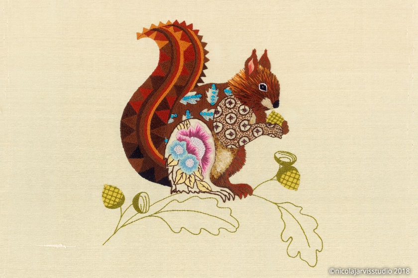 Nicola Jarvis Silk Squirrel