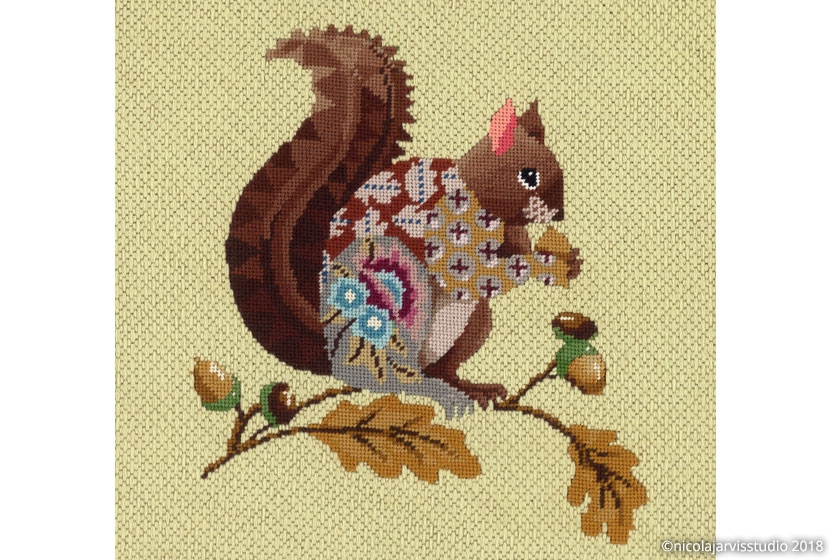 Nicola Jarvis canvas squirrel