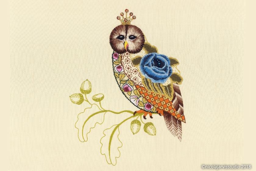 Nicola Jarvis Hillwood silk owl