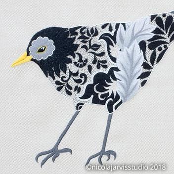 William Morris-inspired Birds - Crewel Work