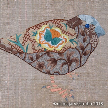 William Morris-inspired Birds - Silk Work