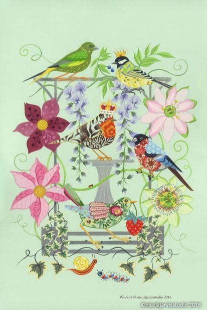 nicola jarvis wisteria tea towel