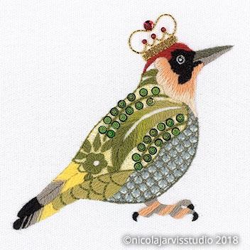 Couture Birds - Embellished Crewel Work
