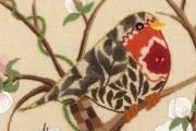 nicola jarvis blossom wood crewel