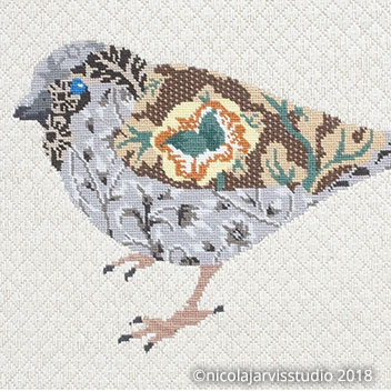 William Morris-inspired Birds - Canvas Work