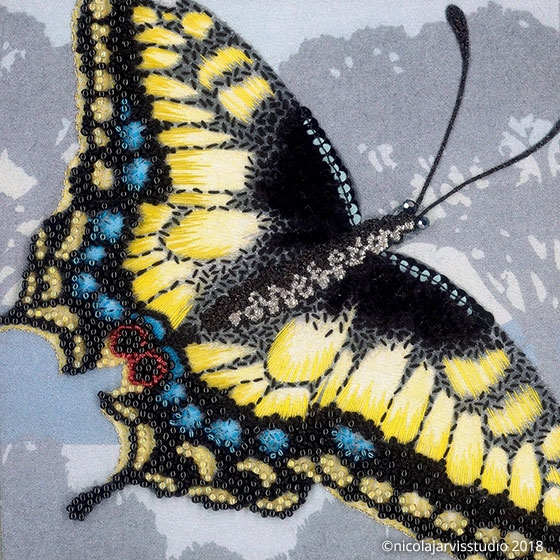 Nicola Jarvis Anise Swallowtail cotton kit