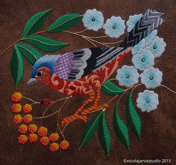 Nicola Jarvis Studio Chaffinch and Rowan Berries