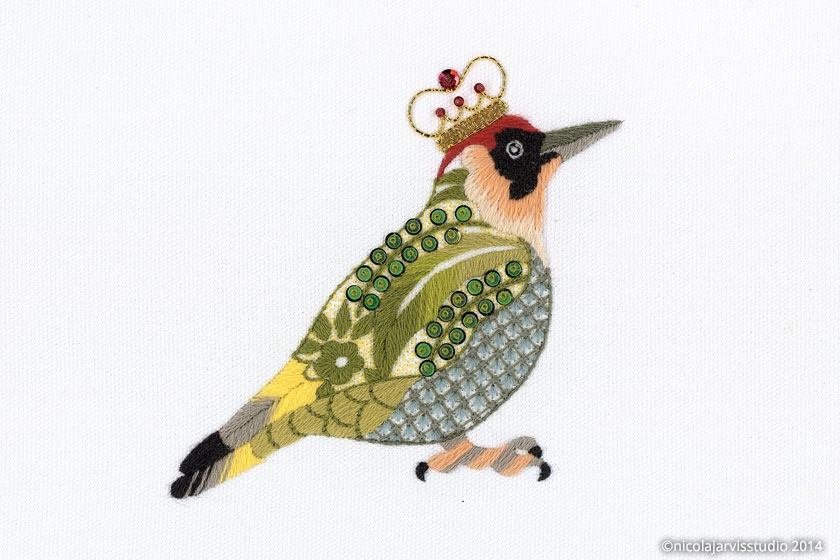 Nicola Jarvis Studio Green Woodpecker
