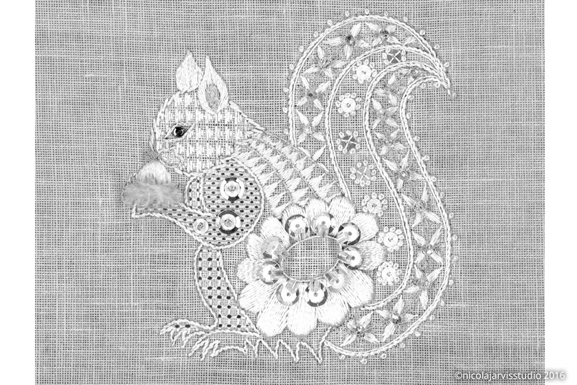 Nicola Jarvis Studio Winter Squirrel
