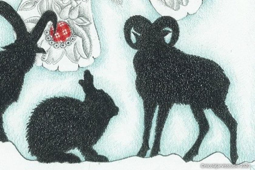 'Alpine Silhouette' Christmas cards