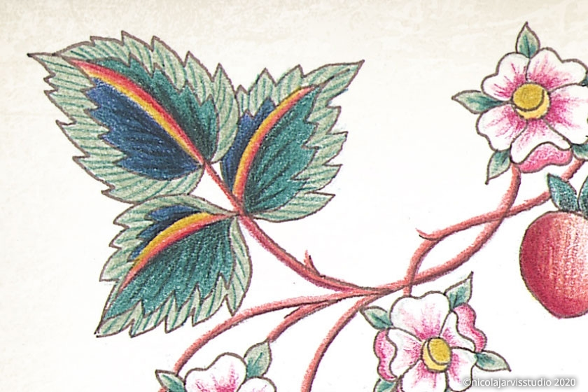 'Loveday Garden' colouring book