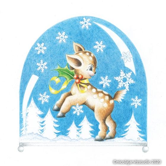 'Snow Globe' Christmas cards