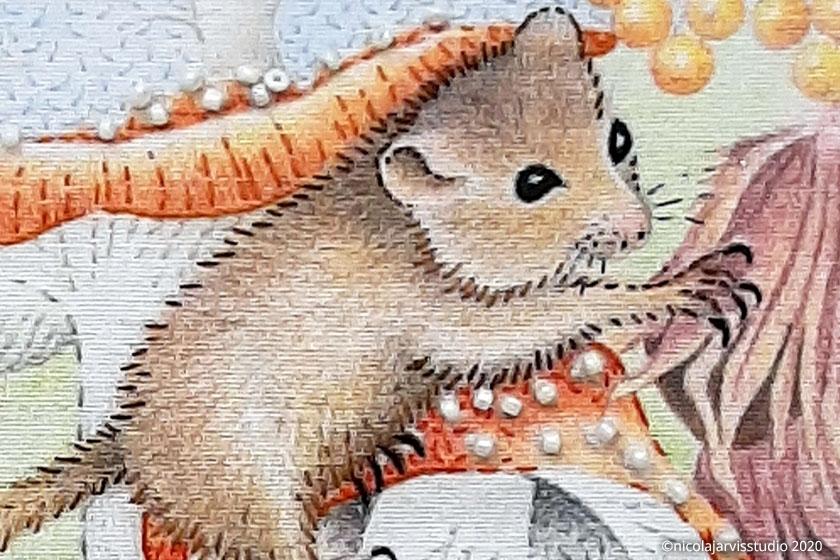 Nicola Jarvis Studio 'Miss Mouse' tea towel