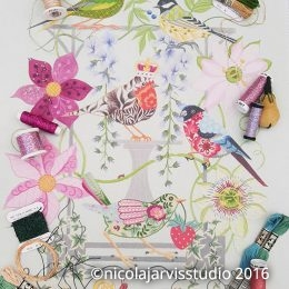 Nicola Jarvis Studio 'Wisteria' fabric