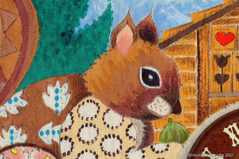 Nicola Jarvis Studio Cuckoo Clock greetings cards